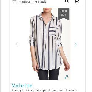 Navy & White Button Down Shirt